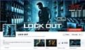 """L'application Facebook, baptisée """"Lock Out, l'interrogatoire"""", permet à l'internaute de découvrir des extraits du film."""