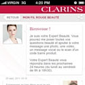 Dagobert crée l'appli mobile de Clarins