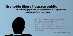 Illustration et citation de Don Draper (Mad Men) pour illustrer la communication de Grenoble