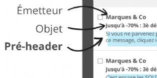 Le Pre-header permet de capter instantanément l'attention du destinataire.