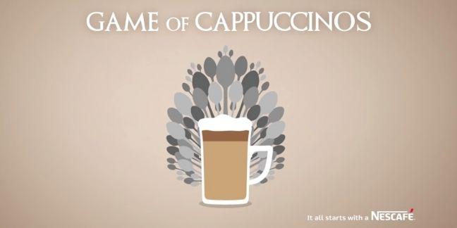 Nescafé joue au latte art version Game of Thrones