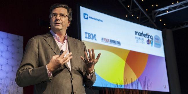 Carlo d'Asaro Biondo, président des opérations EMEA de Google, lors de l'édition précédente de Marketing Day.