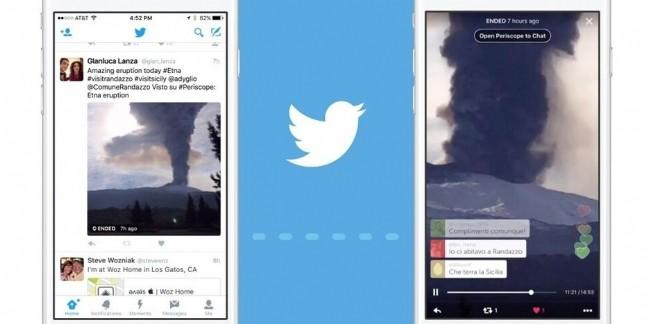 Twitter intègre les vidéos Periscope directement dans son fil d'actualités