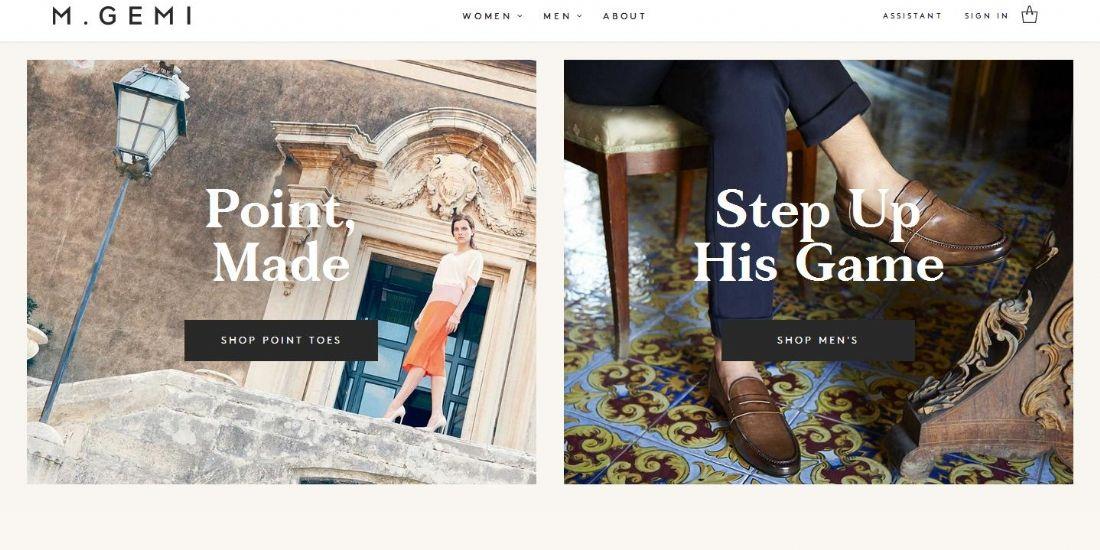 M.Gemi : le site de chaussures qui mise sur la 'marque Italie'