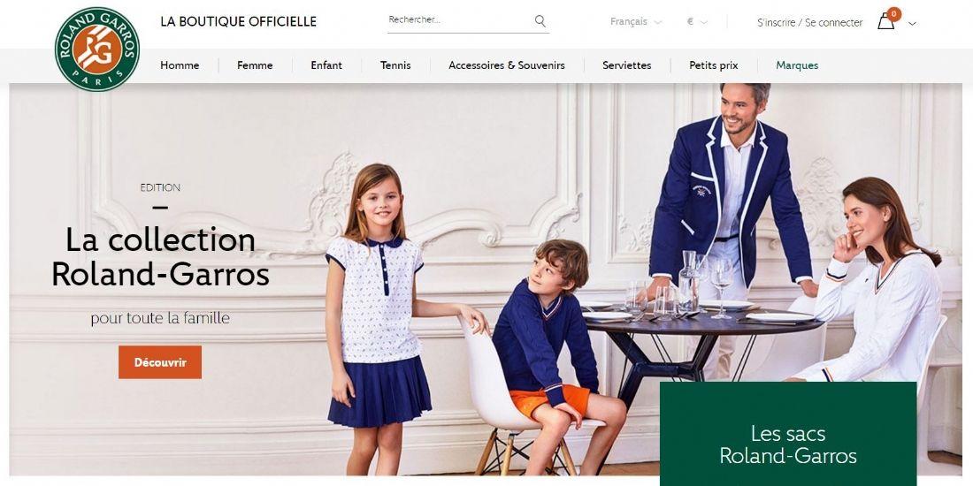 La boutique en ligne Roland-Garros fait peau neuve
