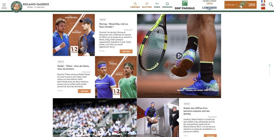Les sponsors de Roland Garros les plus visibles sur les réseaux sociaux