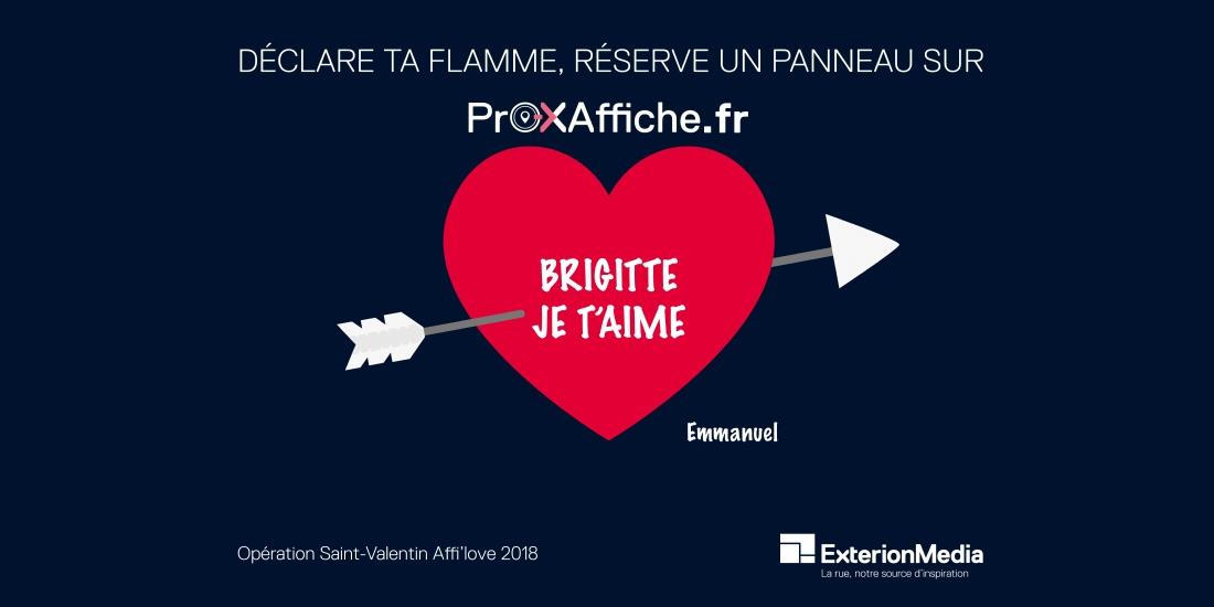 ExterionMedia ouvre son réseau aux particuliers pour la Saint-Valentin