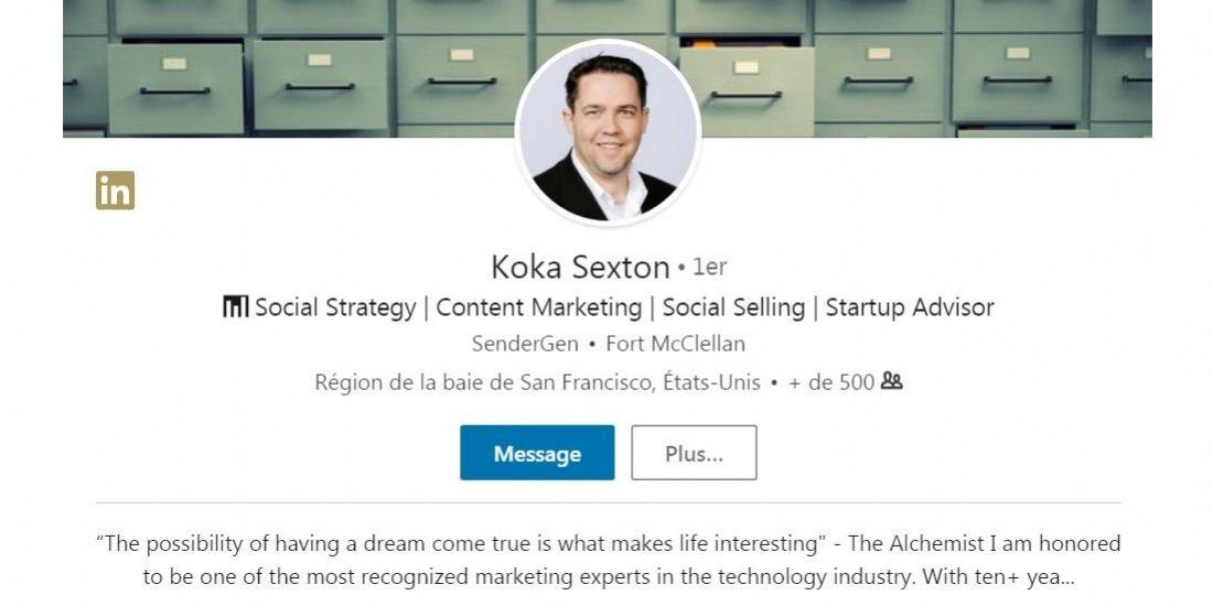 Koka Sexton : 'C'est au marketing de gérer le social selling'
