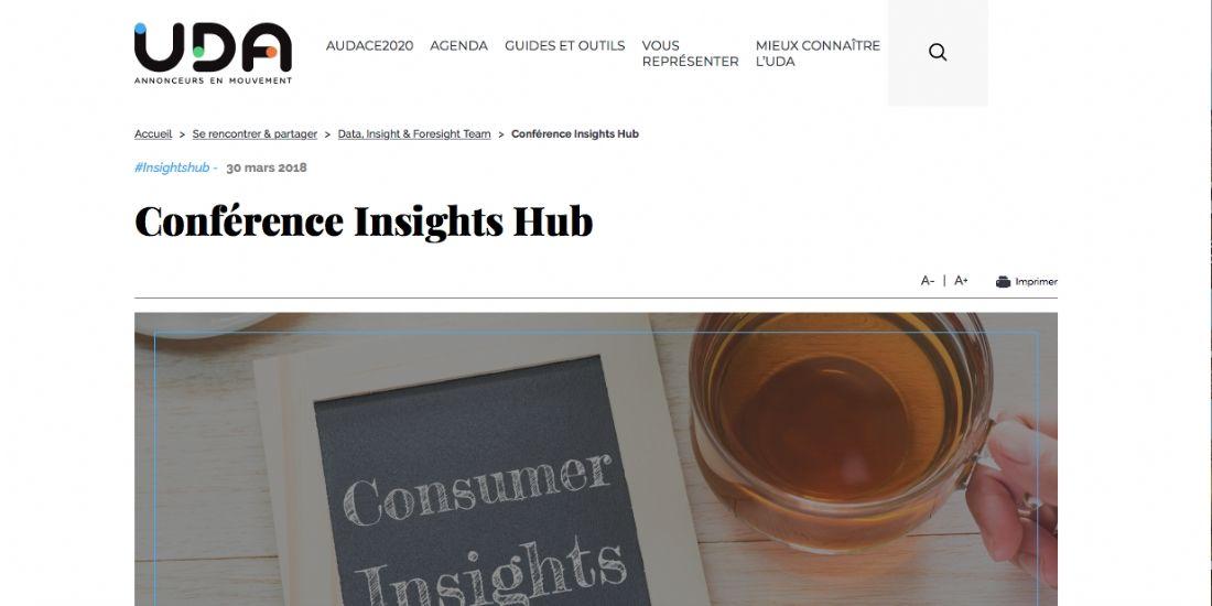 L'UDA organise sa première conférence Insights Hub