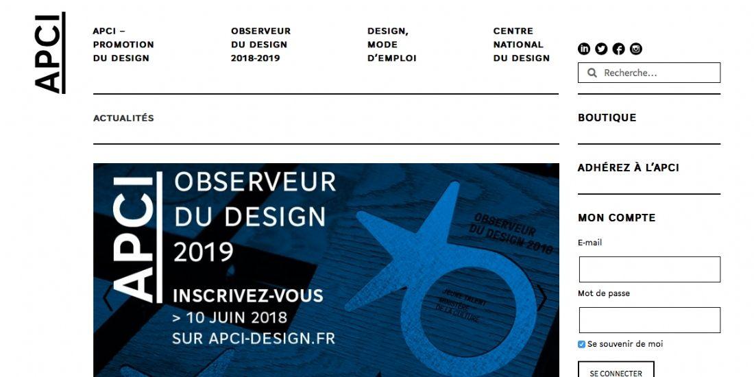 L'APCI donne le coup d'envoi de l'Observeur du design