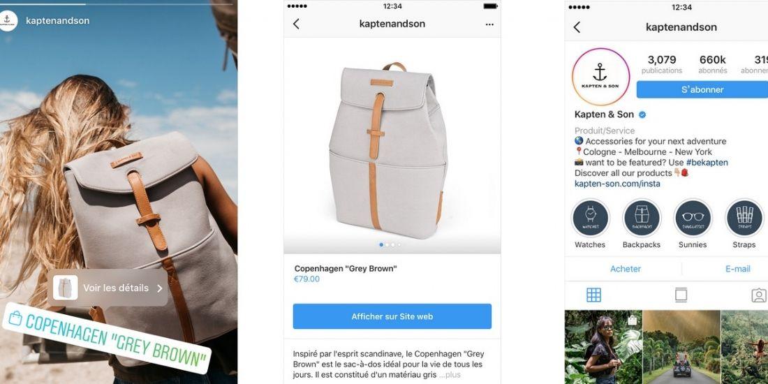 Instagram déploie deux nouveautés 'Shopping'