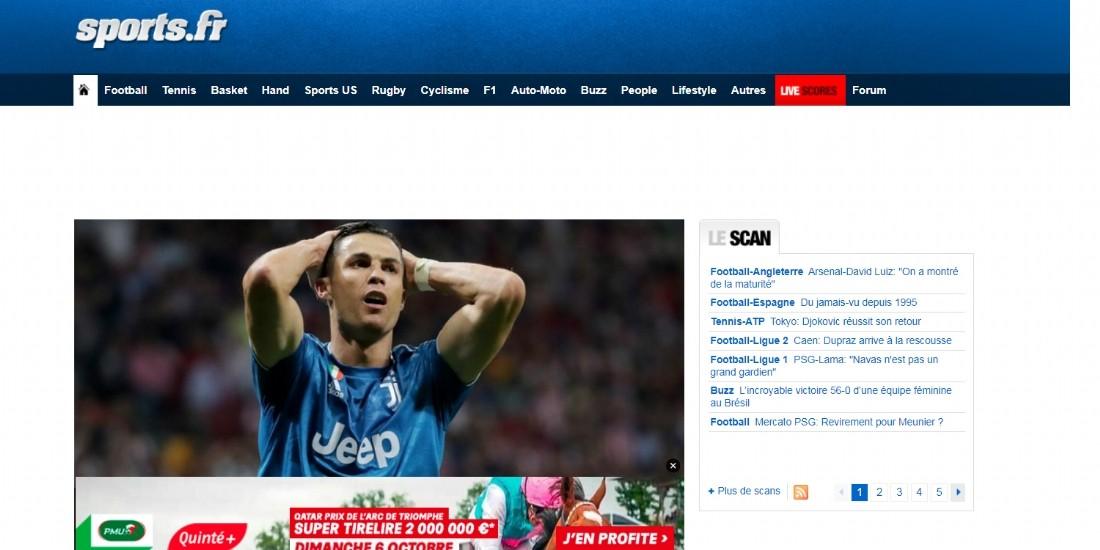 Reworld Media fait l'acquisition de Sports.fr et Football.fr