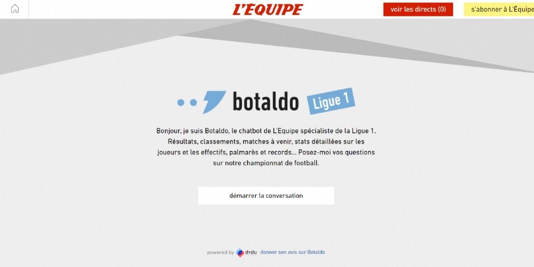 L'Equipe et Dydu lancent le premier chatbot expert football
