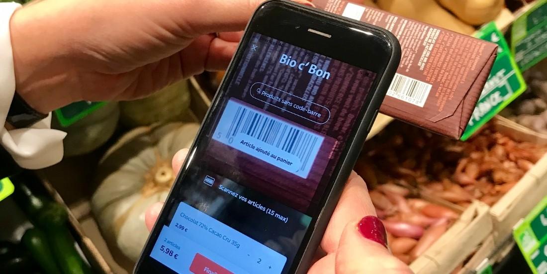 Bio c' Bon déploie le 'scan and go' dans 12 magasins parisiens