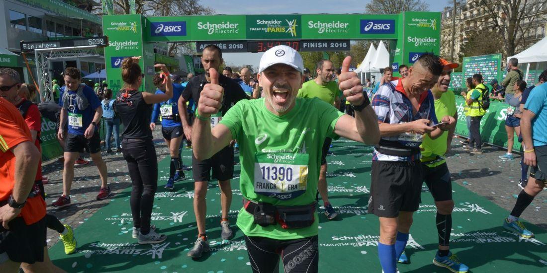 Au Marathon de Paris, Schneider Electric court pour sa notoriété