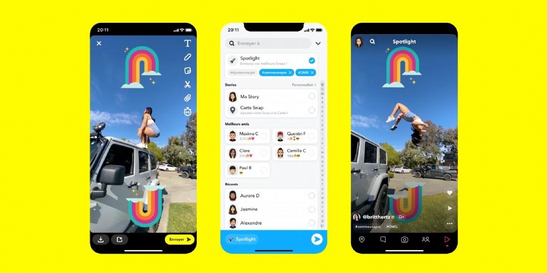 Snapchat lance Spotlight, une plateforme vidéo inspirée de Tik Tok