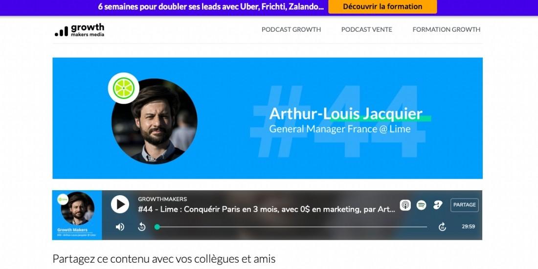 [Podcast] GrowthMakers revient sur la conquête de Lime à Paris