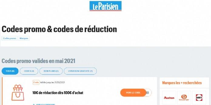 Le Parisien lance Le Parisien Codes Promo