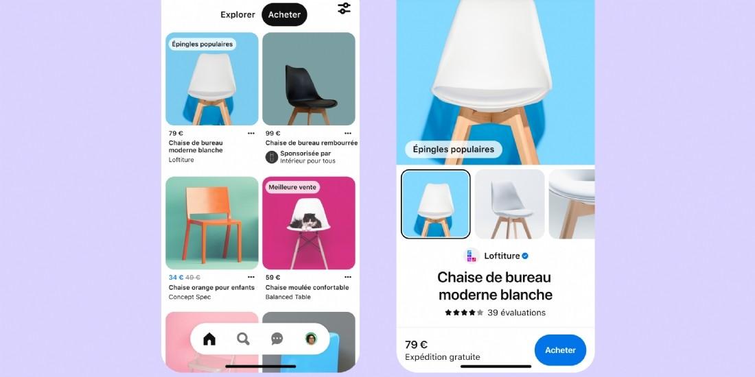 Pinterest lance de nouvelles fonctionnalités shopping