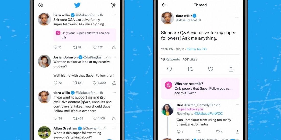 Twitter teste 'Super Follows', abonnement payant à des comptes d'influenceurs